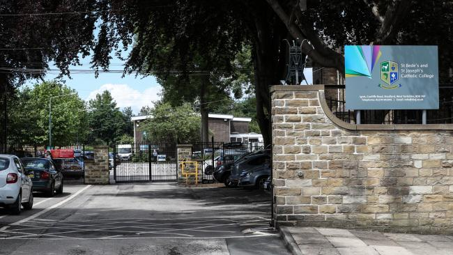 The double assault, one of which is now being investigated as a hate crime, took place on Friday afternoon at St Bede's and St Joseph's College in Manningham