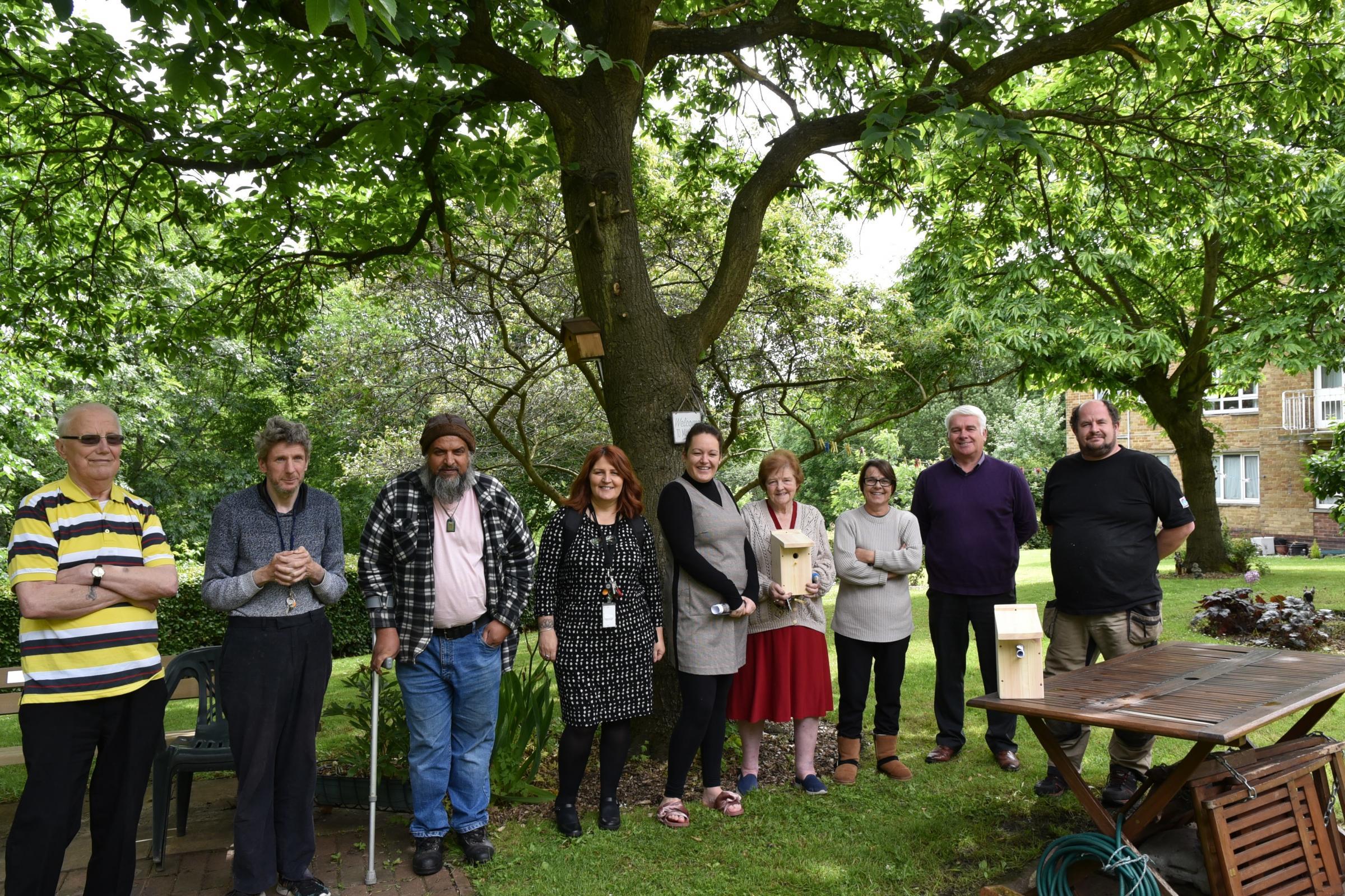 Shipley flat residents' joy at new Norwood Avenue garden