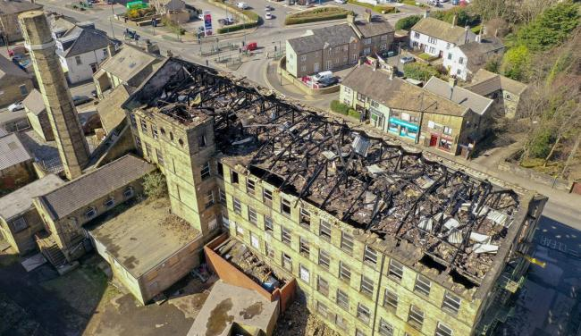 The aftermath of the mill fire on Great Horton Road captured by drone pilot www.rotorgraph.co.uk