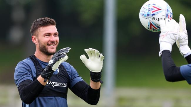 Richard O'Donnell is all smiles in pre-season training after the arrival of goalkeeping coach John Vaughan