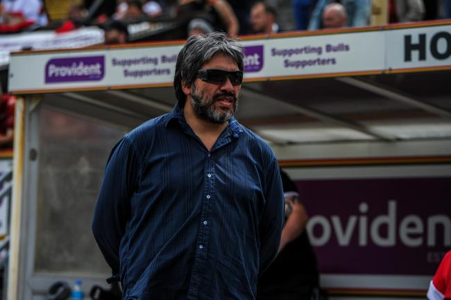 Andrew Chalmers in attendance at the Bulls' clash with Widnes. Picture: Tom Pearson
