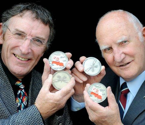 Peter Whitaker and Jim Hartley with their medals