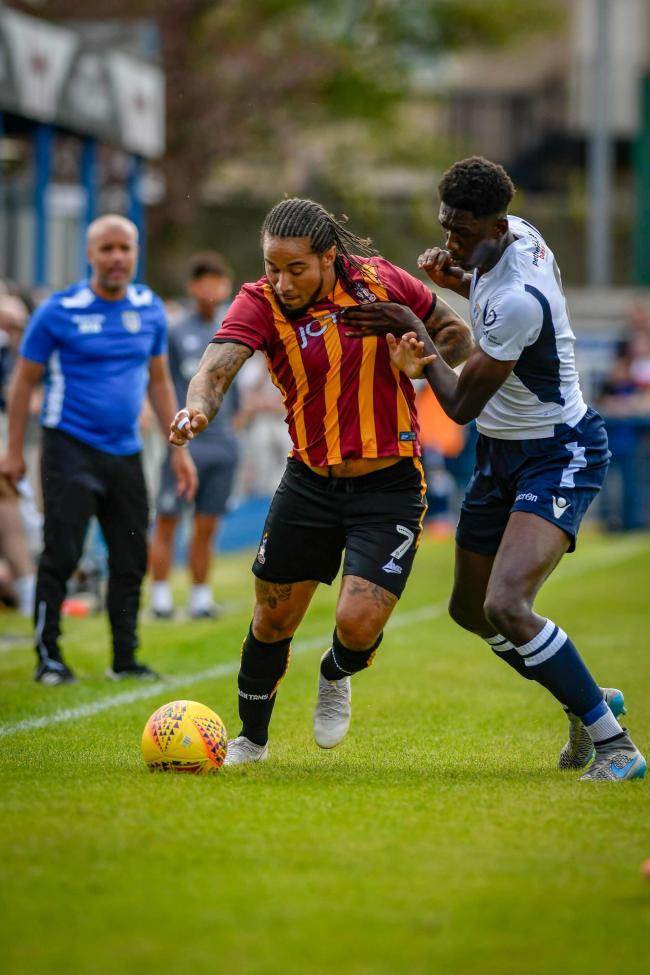 Sean Scannell, left, set up Clayton Donaldson's goal in City's 2-0 win over Guiseley in their pre-season friendly. Picture: Andy Garbutt