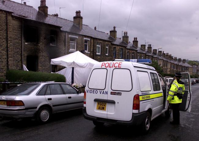 The scene of the fatal house fire in Birkby