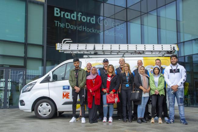 Students from Bradford College who took part in the Sky Home Service programme