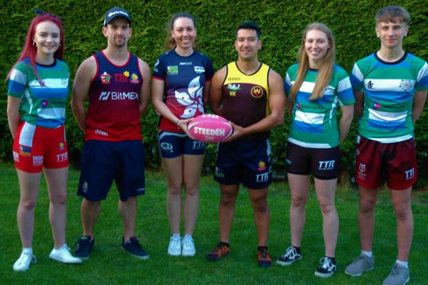 From left, Velcrocity's Millie Barraclough, Dave Wilkinson, Laura Elliott, Hafa Karim, Leanne Jennings, Craig Churchyard have been selected for the Great Britain mixed tag rugby team for later this year