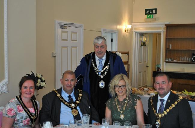 Otley Town Mayor Peter Jackson with guests at his Civic Service