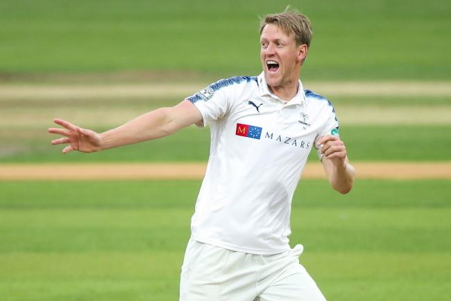 Yorkshire CCC's Steven Patterson will be leading the side out tomorrow Picture: Ray Spencer