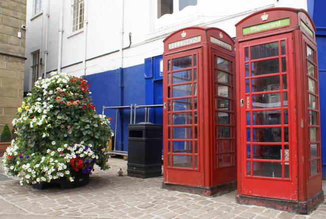 Otley Town Council is considering adopting these two old red telephone boxes