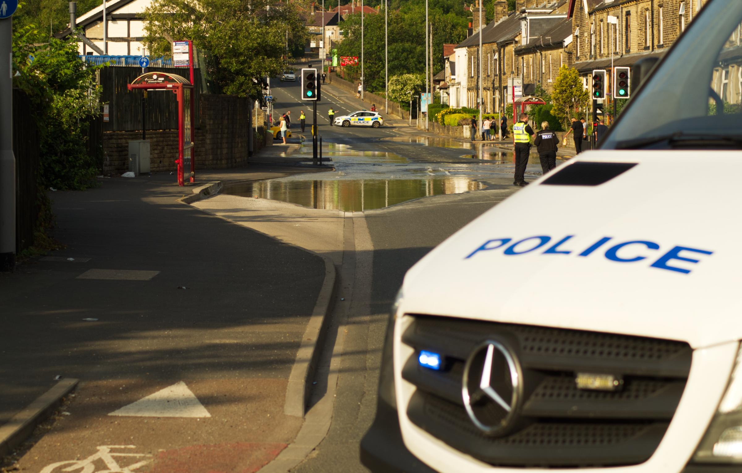 Burst pipe closes main road from Riddlesden to Keighley