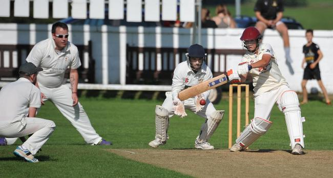 James Massheder (batting) took six wickets for Yeadon but it was Liversedge who took the spoils