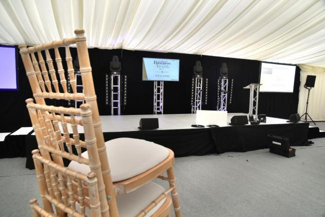 Final preparations were taking place yesterday, with the marquee set up in the city centre