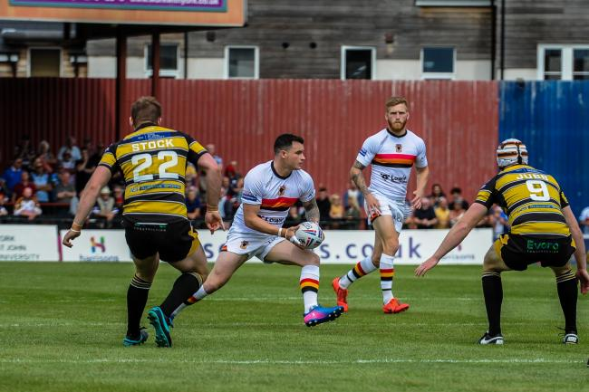 Jordan Lilley in action for Bulls against York  Picture: Tom Pearson
