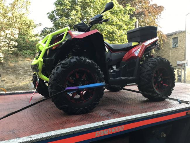 The quad bike seized in Manningham