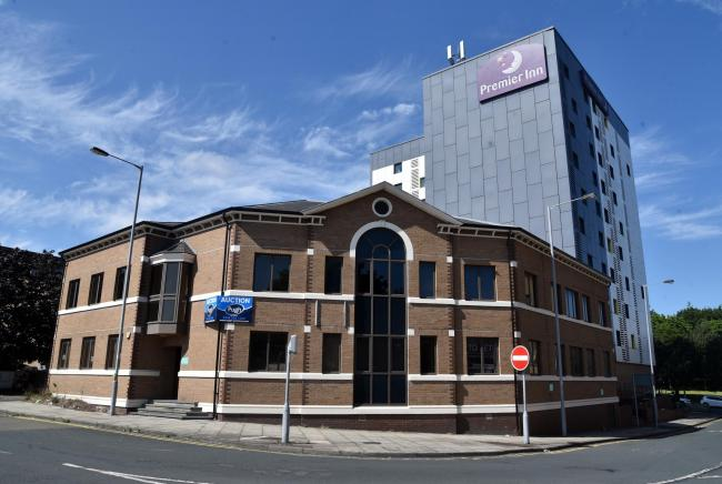Broadacre house behind the Premier inn is set to become flats if plans are approved..