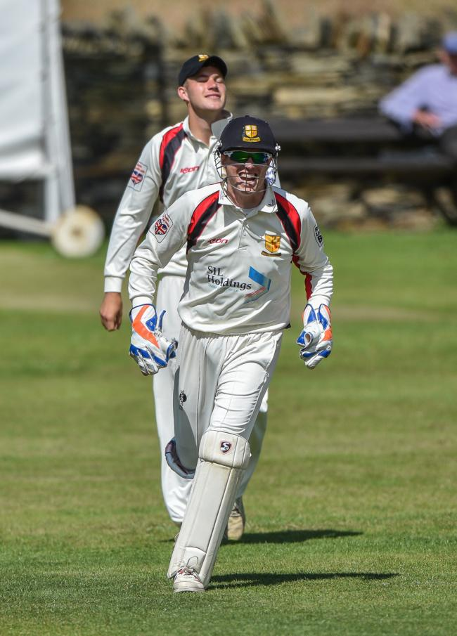 Matthew Duce claimed his 600th wicket-keeping victim, catching Ibrar Younis behind, as his Bradford & Bingley side grabbed victory over Lightcliffe earlier this month. Picture: Ray Spencer