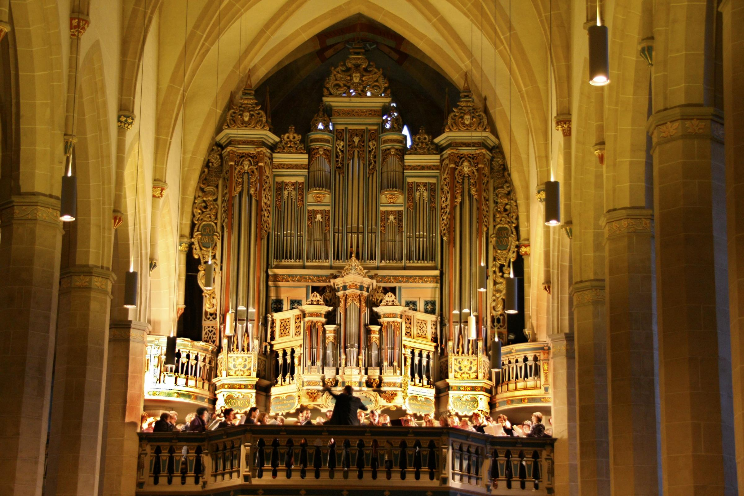 Augustiner-Kantorei of Erfurt sing at the Cathedral Eucharist