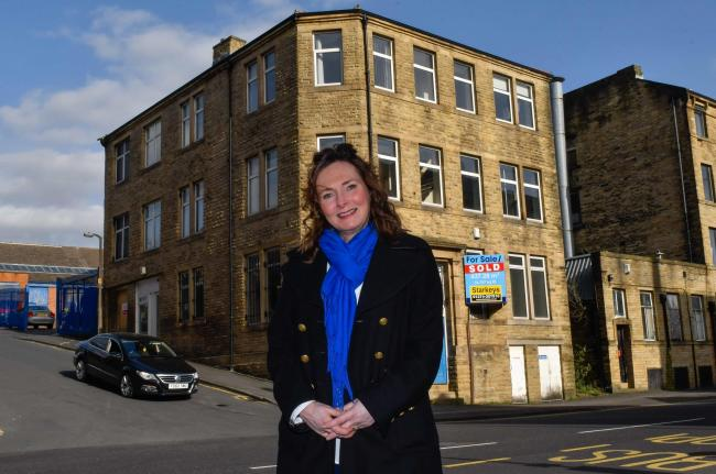 Liz Weatherill, managing director of Enable2, outside its new premises in Sunbridge Road.