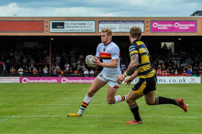 Joe Brown in action on his Bulls' league debut   Picture: Tom Pearson
