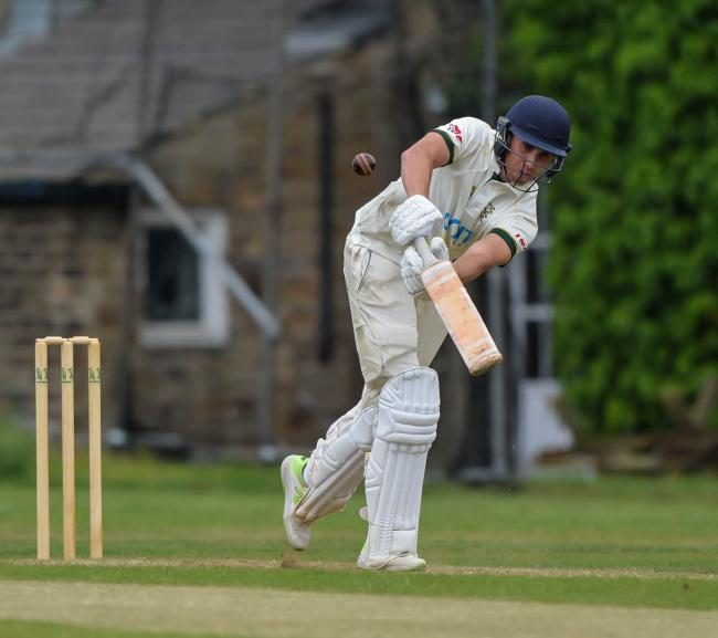 Simon Lambert hit an unbeaten century for Undercliffe   Picture: Ray Spencer