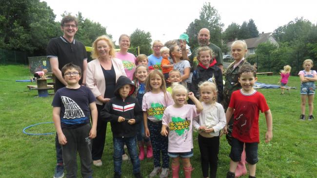 Bradford South MP Judith Cummins visits The Valley Project's adventure playground in Holme Wood
