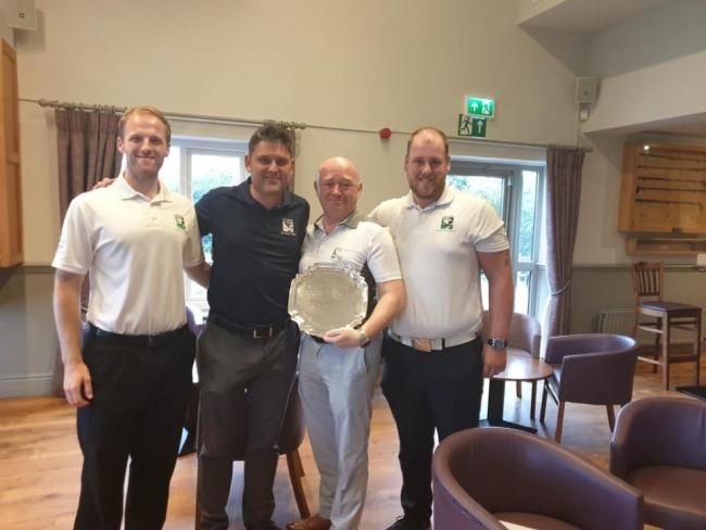 Northcliffe's winning Bradford Union Team Championship side. From left, Rob Malloy, Mark Cook and (right) Jordan Clements   Picture: Northcliffe Golf Club