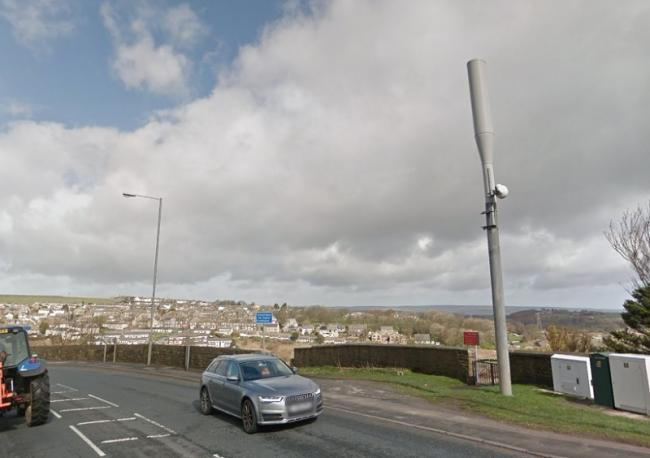 The mast in Denholme that would be replaced - image from Google Street View