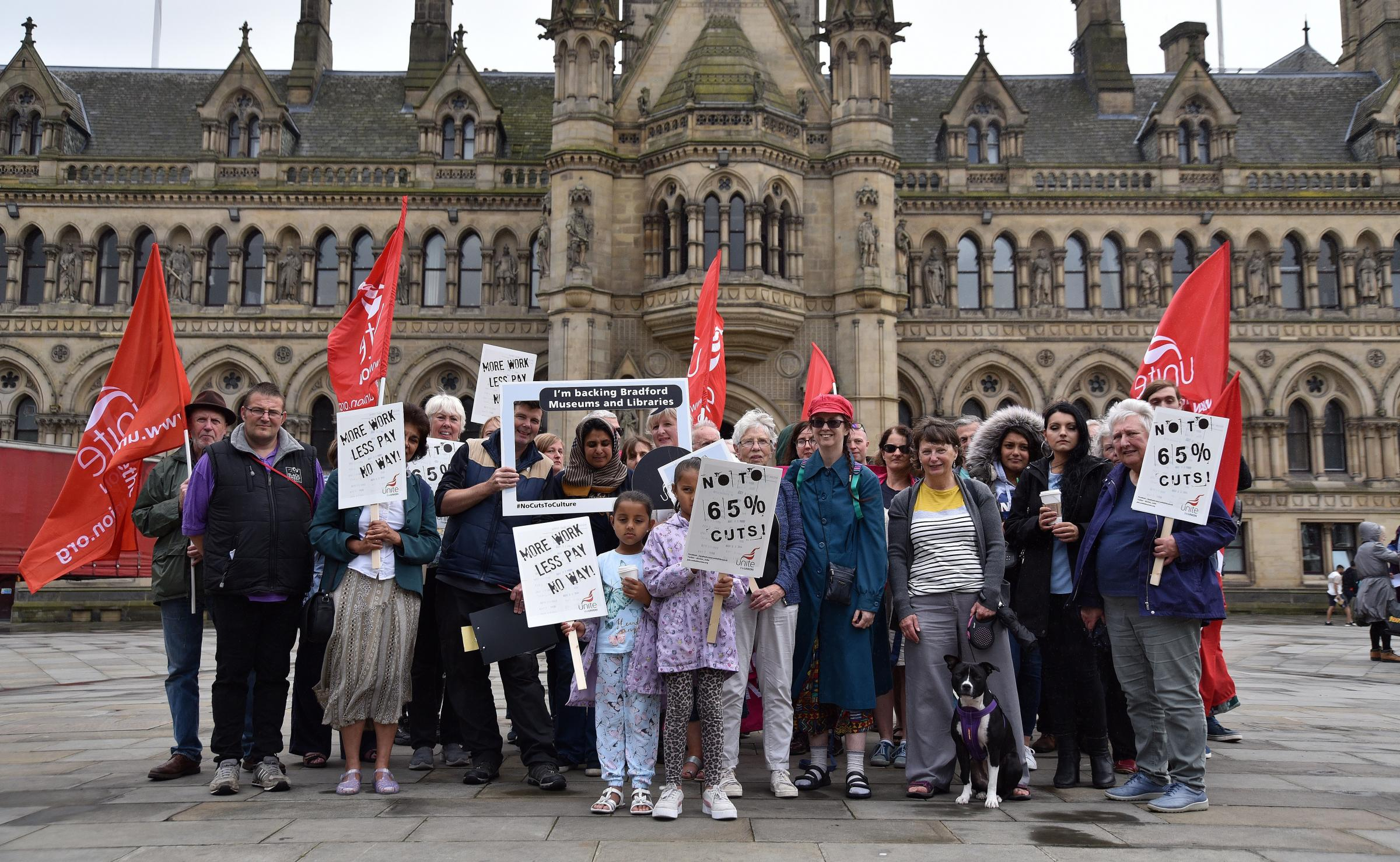 Unite members rally in Bradford in face of cuts to museums and libraries