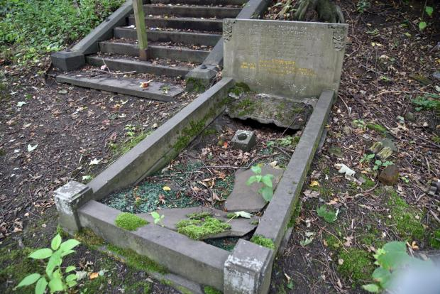 Bradford Telegraph and Argus: A neglected grave at Undercliffe Cemetery