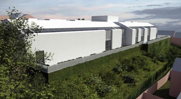 Bradford Telegraph and Argus: An artist's impression of the rear of the proposed community centre in Manningham