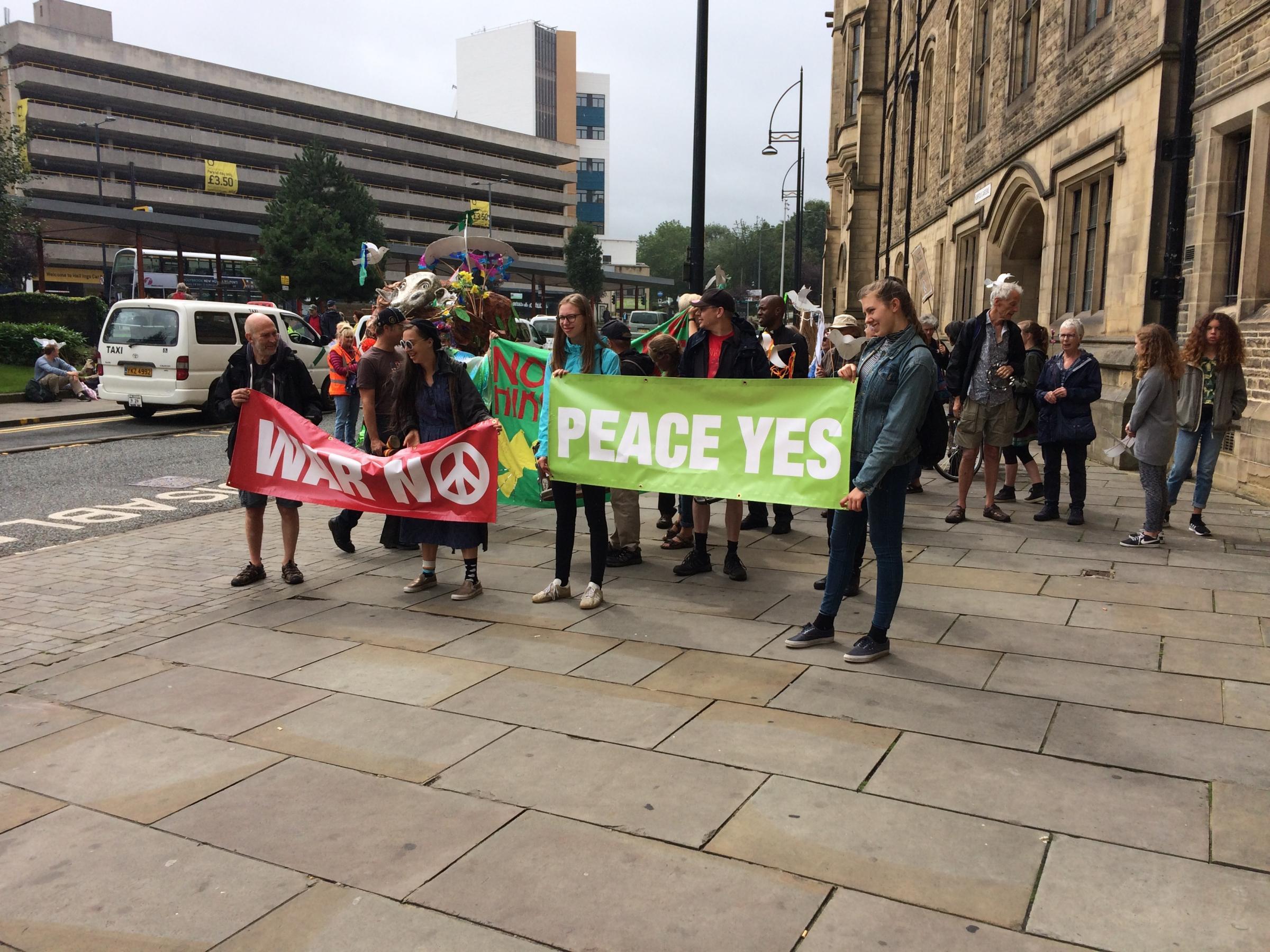Bradford peace parade marks nuclear bombings anniversary