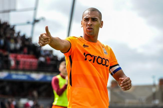 James Vaughan scored City's first goal of the season. Pic: Tom Pearson