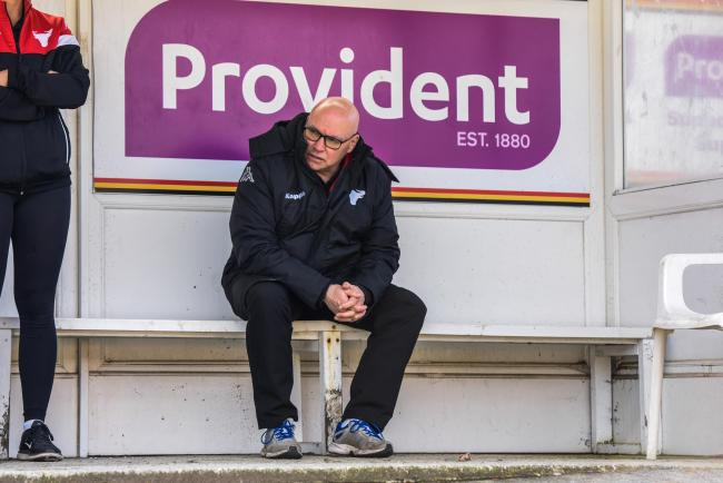 John Kear is wary of Barrow's threat, with the Cumbrians desperate to avoid the drop  Pic: Tom Pearson