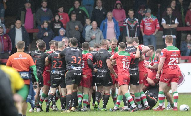 A probe has been launched after a number of incidents during Cougars' defeat to Hunslet. Picture: Charlie Perry