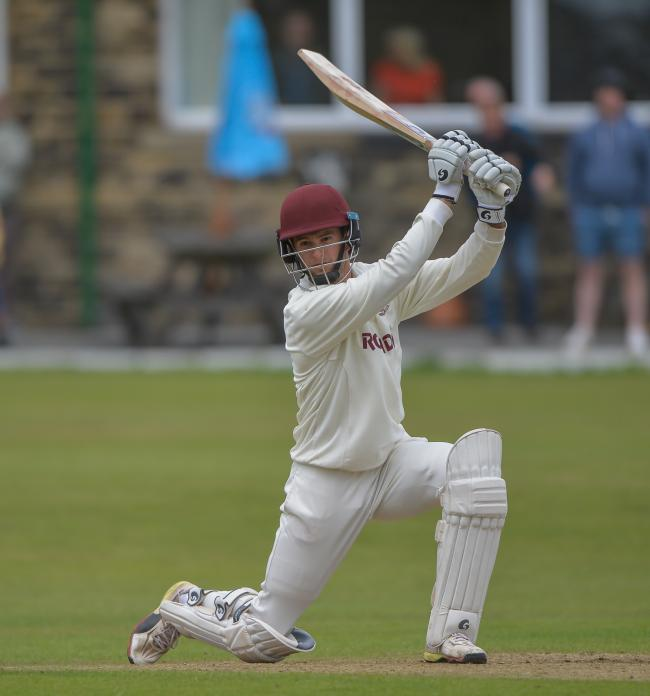 Brad Schmulian on his way to a match-winning knock for Woodlands  Picture: RAY SPENCER