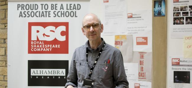 Damien O'Keeffe, leader of the RSC Lead Associate School programme at Bradford College