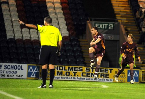 Michael Flynn fires in City's equaliser on the way to victory at Rochdale
