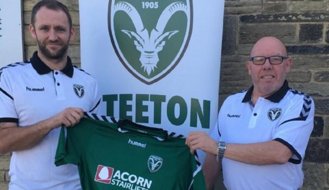 From left, Steeton's new reserve team assistant manager Kyle Fox and reserves boss Steve Lewis line up after being appointed