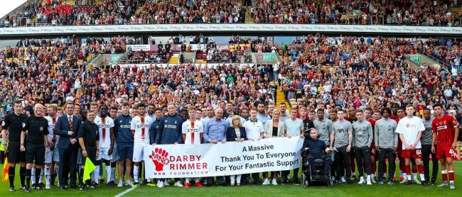 The City v Liverpool friendly saw the biggest ever crowd at the rebuilt Valley Parade - and raised vital funds for the Darby-Rimmer MND Foundation