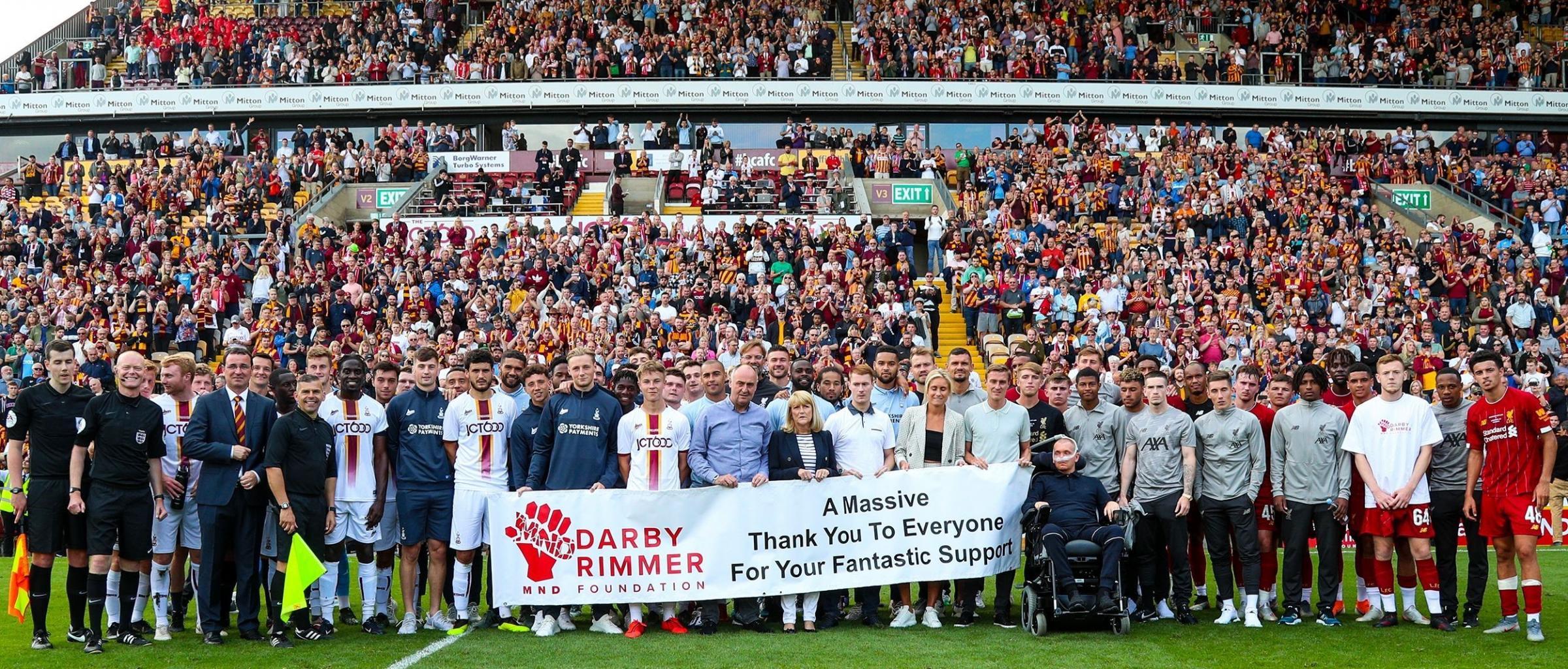 Bantams v Liverpool game raises over £275k for Stephen Darby fund