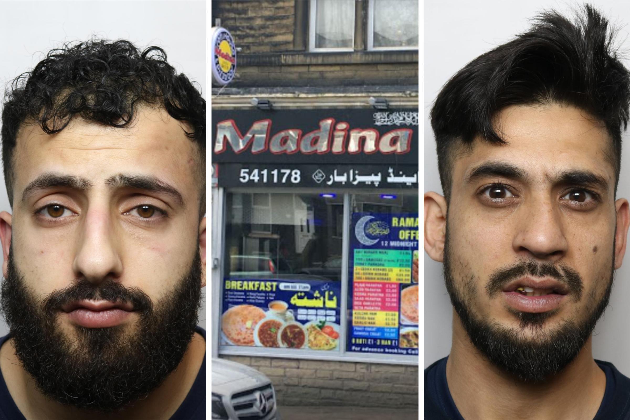 Two men jailed over 'ferocious' punishment beating at Bradford takeaway
