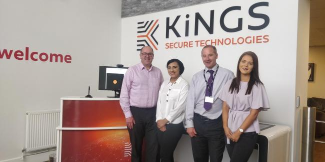 From left, Neil Cossey CFO, Sanah Iqbal, Darren Gamage COO and Amy Silkstone