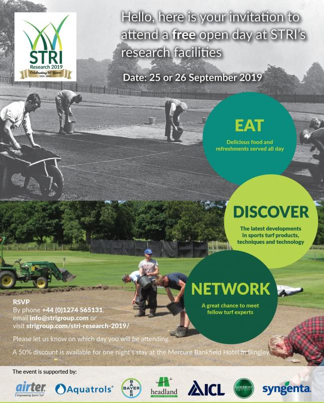 A flyer for the STRI Research event