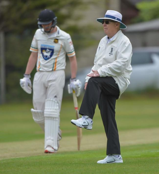 Umpire Alan Carter is ready to officiate the Jack Hampshire Cup final. Picture: Ray Spencer