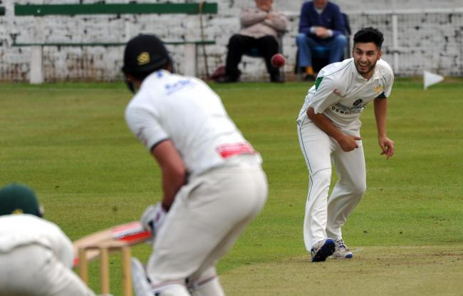 Amir Hussain, right, took 4-53 in Methley's two-run win over Cleckheaton in the Premier Division