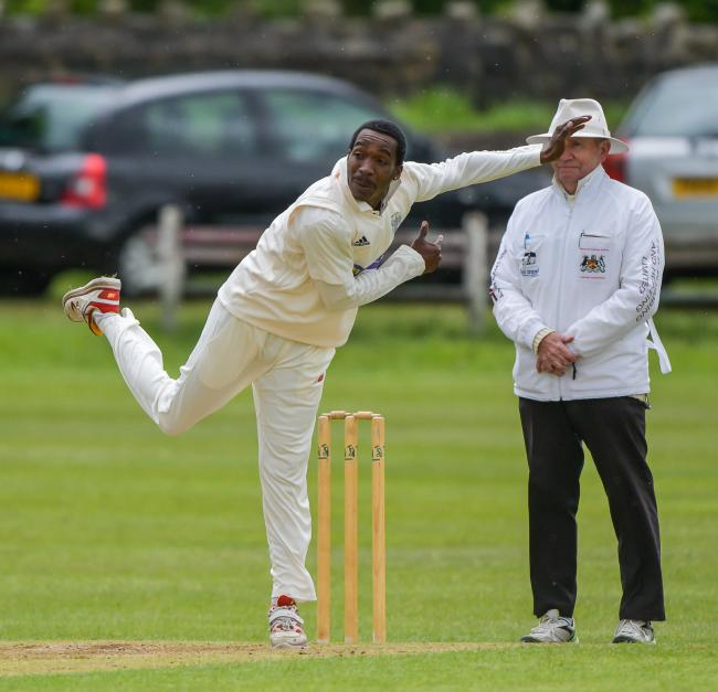 Keighley's Alex Antoine took a five-wicket haul in his side's much-needed win over Scholes in the Bradford Premier League Championship One. Picture: Ray Spencer