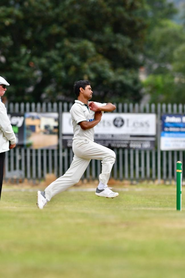 Mayank Singh took 4-15 for Crossflatts in their nine-wicket win over Embsay in Mewies Solicitors Craven and District League Division One. Picture: Andy Garbutt Photography