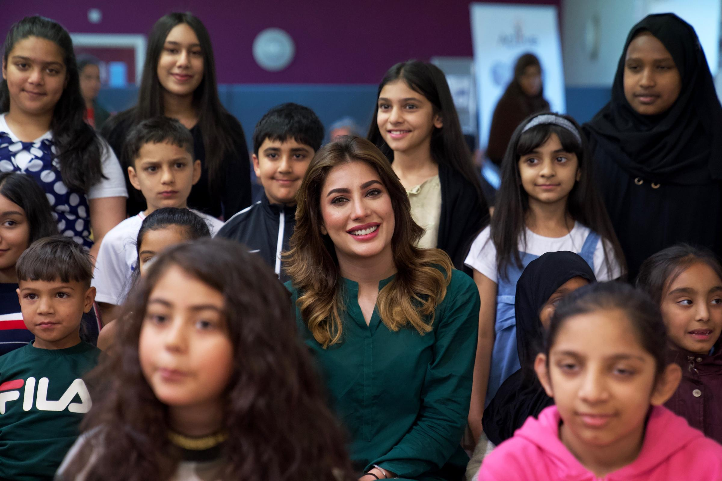 Lollywood star Mehwish Hayat visits Bradford
