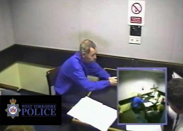 Bradford Telegraph and Argus: John Humble during a police interview. Picture: West Yorkshire Police