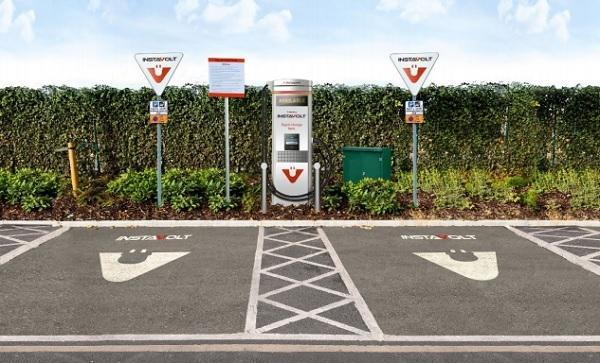 An artist's impression of the proposed charging points